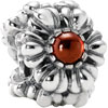 (RETIRING SOON) Pandora Silver Birthstone Bead January Garnet